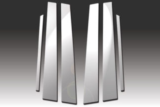 Mirror Finish Stainless Steel Pillar Post 6-Pc 1994 - 2000 Mercedes C-Class-W202