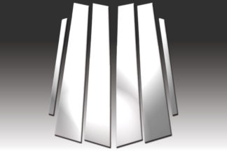Mirror Finish Stainless Steel Pillar Post 6-Pc 2001 - 2007 Mercedes C-Class-W203