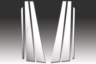 Mirror Finish Stainless Steel Pillar Post 6-Pc 1986 - 1995 Mercedes E-Class-W124