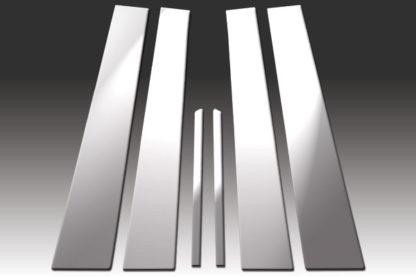 Mirror Finish Stainless Steel Pillar Post 6-Pc 1996 - 2002 Mercedes E-Class-W210