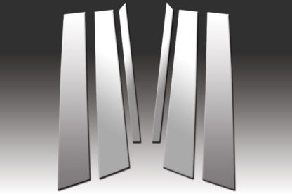 Mirror Finish Stainless Steel Pillar Post 6-Pc 2006 - 2011 Mercedes ML-Class-W164