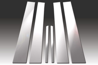 Mirror Finish Stainless Steel Pillar Post 6-Pc 1992 – 1998 Mercedes S-Class-W140