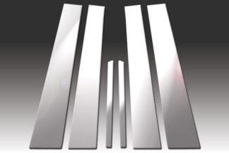 Mirror Finish Stainless Steel Pillar Post 6-Pc 1992 - 1998 Mercedes S-Class-W140