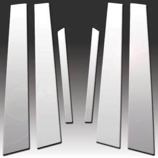 Mirror Finish Stainless Steel Pillar Post 6-Pc 2000 - 2006 Mercedes S-Class-W220