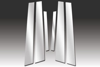 Mirror Finish Stainless Steel Pillar Post 6-Pc 2002 - 2006 Nissan Altima-Sedan