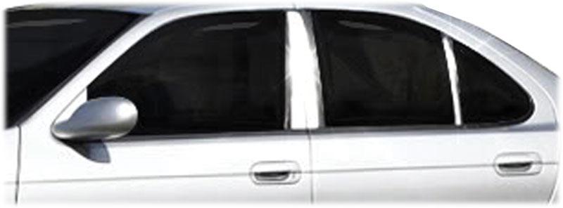 Mirror Finish Stainless Steel Pillar Post 6-Pc 2000 - 2006 Nissan Sentra