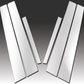Mirror Finish Stainless Steel Pillar Post 6-Pc 2007 - 2012 Nissan Sentra