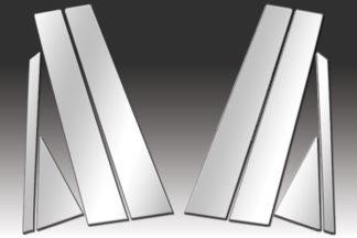 Mirror Finish Stainless Steel Pillar Post w/ Diagonal 8-Pc 2013 - 2016 Nissan Sentra