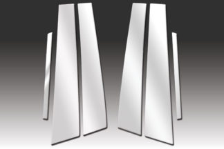Mirror Finish Stainless Steel Pillar Post 6-Pc 2005 - 2009 Pontiac G6