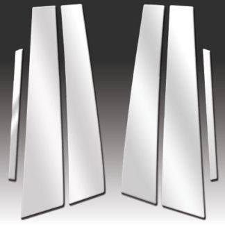 Mirror Finish Stainless Steel Pillar Post 6-Pc 2005 - 2009 Pontiac G6