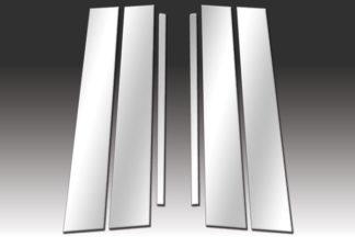 Mirror Finish Stainless Steel Pillar Post 6-Pc 2008 - 2015 Scion xB
