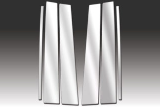 Mirror Finish Stainless Steel Pillar Post 6-Pc 2003 - 2009 Toyota 4Runner