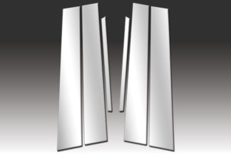 Mirror Finish Stainless Steel Pillar Post 6-Pc 2007 - 2011 Toyota Camry