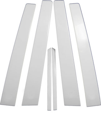 Mirror Finish Stainless Steel Pillar Post 6-Pc 2006 - 2008 Toyota Corolla