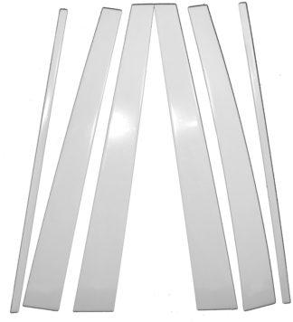 Mirror Finish Stainless Steel Pillar Post 6-Pc 1998 - 2007 Toyota Land-Cruiser