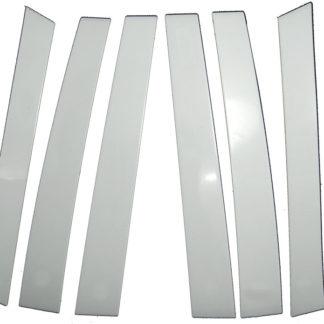 Mirror Finish Stainless Steel Pillar Post 6-Pc 2004 - 2010 Toyota Sienna