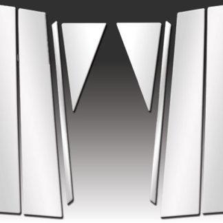 Mirror Finish Stainless Steel Pillar Post 8-Pc 2009 - 2015 Toyota Venza