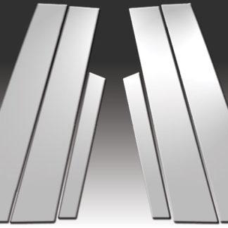 Mirror Finish Stainless Steel Pillar Post 6-Pc 2011 - 2016 Volvo S60