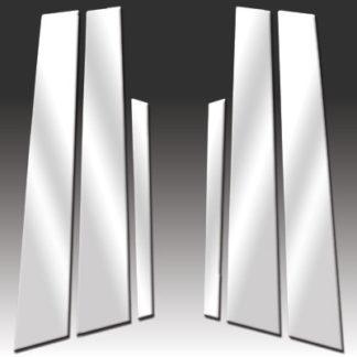 Mirror Finish Stainless Steel Pillar Post 6-Pc 2007 - 2016 Volvo S80