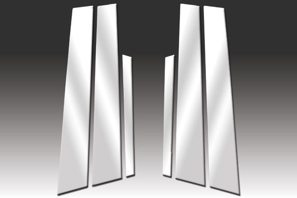 Stainless Steel Pillar Post Chrome Trim 6PC For Mazda 3i 4 Door 2004-2008