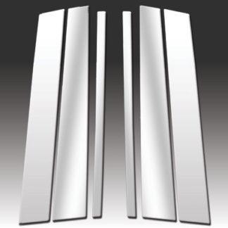 Mirror Finish Stainless Steel Pillar Post 6-Pc 2003 - 2015 Volvo XC90