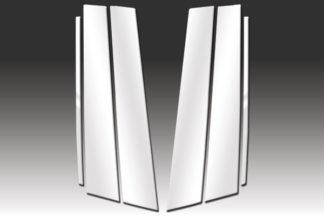 Mirror Finish Stainless Steel Pillar Post 6-Pc 2010 - 2014 Volkswagen GTI-4-Door