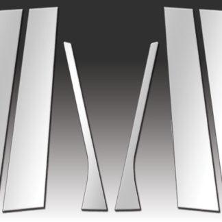 Mirror Finish Stainless Steel Pillar Post 6-Pc 2005 - 2010 Volkswagen Jetta