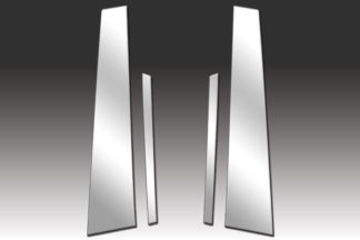 Mirror Finish Stainless Steel Pillar Post w/ Diagonal 4-Pc 2011 - 2016 Volkswagen Jetta