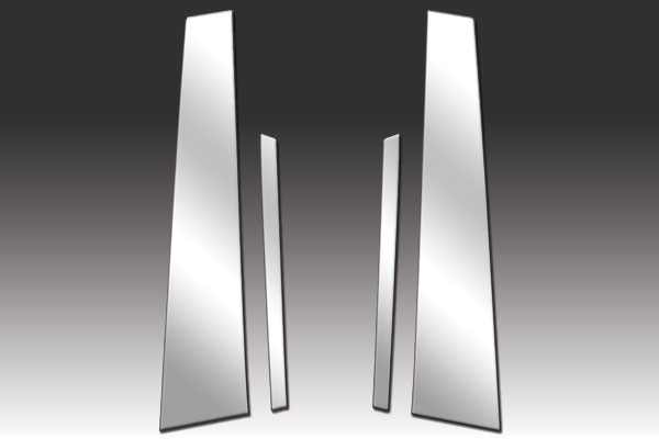 Stainless Steel Pillar Post Chrome Trim 4PC For Volkswagen Jetta 2011-2015