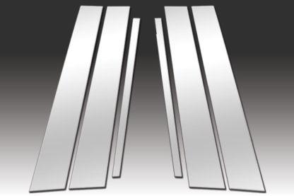 Mirror Finish Stainless Steel Pillar Post 6-Pc 2006 - 2009 Volkswagen Rabbit