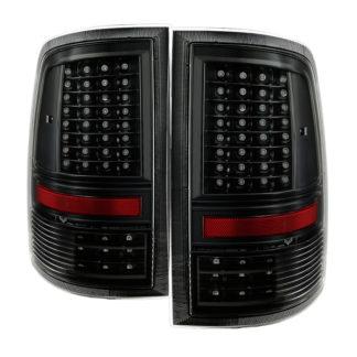 """ALT-JH-DR09-LED-CS-BKDodge Ram 1500 09-18 / Ram 2500/3500 10-18  - Incandescent Model only ( Not Compatible With LED Model ) """"""""C Shape"""""""" LED Tail Lights- Black"""