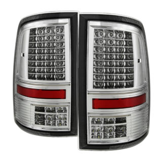 "ALT-JH-DR09-LED-CS-CDodge Ram 1500 09-18 / Ram 2500/3500 10-18 - Incandescent Model only ( Not Compatible With LED Model ) """"C Shape"""" LED Tail Lights- Chrome"