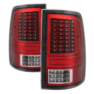 """ALT-JH-DR09-LED-CS-RCDodge Ram 1500 09-18 / Ram 2500/3500 10-18 - Incandescent Model only ( Not Compatible With LED Model ) """"""""""""""""C Shape"""""""""""""""" LED Tail Lights- Red Clear"""