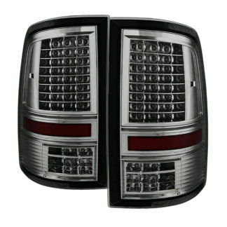 "ALT-JH-DR09-LED-CS-SMDodge Ram 1500 09-18 / Ram 2500/3500 10-18 - Incandescent Model only ( Not Compatible With LED Model ) """"C Shape"""" LED Tail Lights- Smoked"
