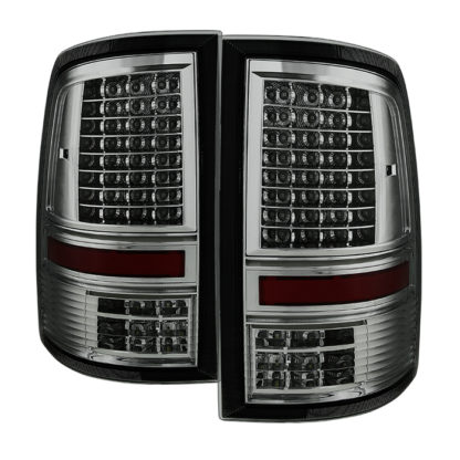 "ALT-JH-DR09-LED-CS-SMDodge Ram 1500 09-18 / Ram 2500/3500 10-18 - Incandescent Model only ( Not Compatible With LED Model ) """"C Shape"""" LED Tail Lights- Smoked"