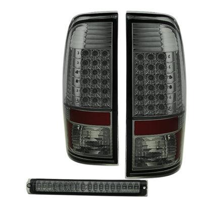 ALT-JH-FF15097-LED-SET-SMFord F150 Styleside 97-03 LED Tail Lights With LED 3rd Brake Light- Smoked