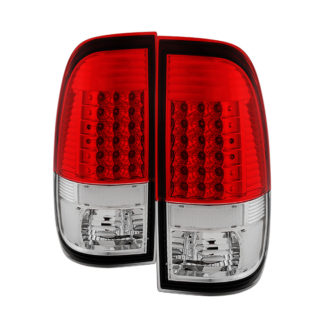 ALT-JH-FS08-LED-RCFord Super Duty F-250/ F-350/ F-450 08-16 LED Tail Lights - Red Clear