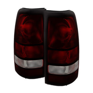 ALT-JH-GS04-OE-RSMGMC Sierra 99-06 ( don't fit Stepside and 3500 Dually Models ) OEM Style Tail Lights - Red Smoked