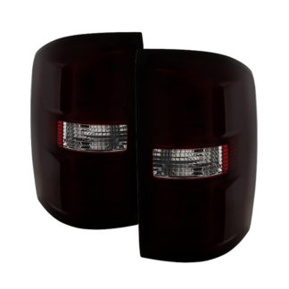 ALT-JH-GS14-OE-RSMGMC Sierra 1500 14-16  2500HD/3500HD 15-16 (Not compatible on 2016 models w/factory LED tail lights   or 3500 HD Dually Models) OEM Style Tail Light - Red Smoked