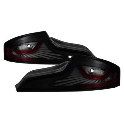 ALT-JH-IG3506-LEDLB-BSMInfiniti G35 Coupe 2006-2007 LED Light Tube Style Tail Lights - Black Smoked