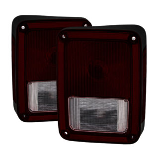 ALT-JH-JW07-OE-RSMJeep Wrangler 07-16 OEM Style Tail Lights -Red Smoked