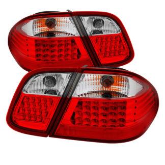 ALT-JH-MBW20898-LED-RCMercdes Benz W208 CLK 98-02 LED Tail Lights - Red Clear