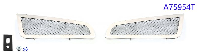 Mesh Grille 2013-2014 Cadillac ATS  Fog light Cover Chrome
