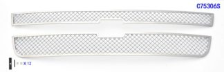 Mesh Grille 2007-2007 Chevy Silverado Main Upper Chrome Classic Style