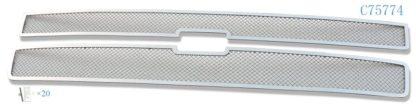 Mesh Grille 2007-2010 Chevy Silverado  Main Upper Chrome