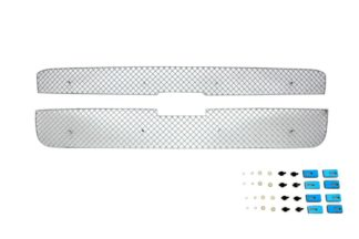 X Mesh Grille 2001-2006 Chevy Avalanche Main Upper Chrome With Body Cladding