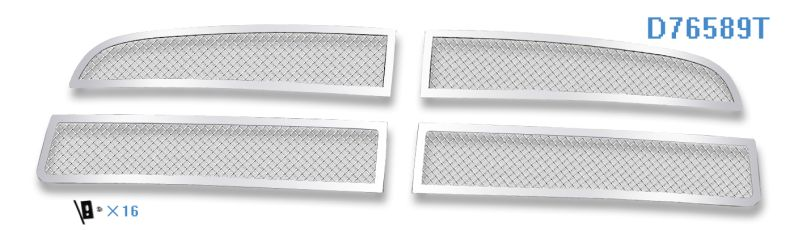Mesh Grille 2005-2010 Dodge Charger  Main Upper Chrome Bar Style