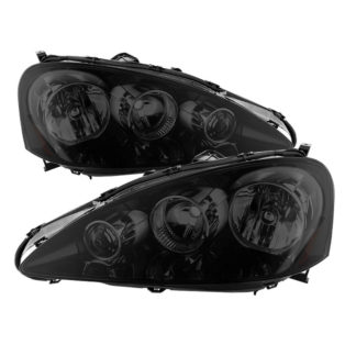 Acura RSX 2005-2006 OEM Style headlights -Black Smoked