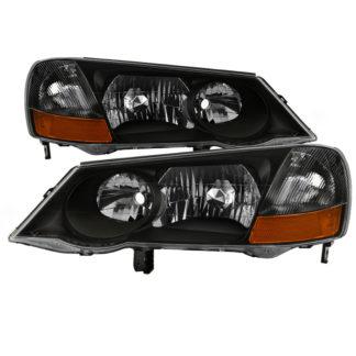 Acura TL 2002-2003 HID Model Only OEM Style headlights - Black