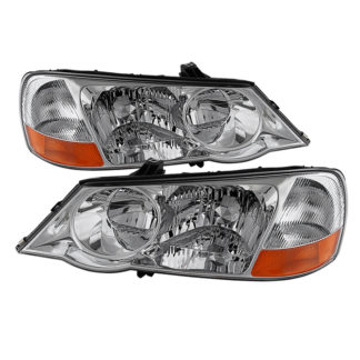 ( OE ) Acura TL 2002-2003 HID Model Only OEM Style headlights - Chrome
